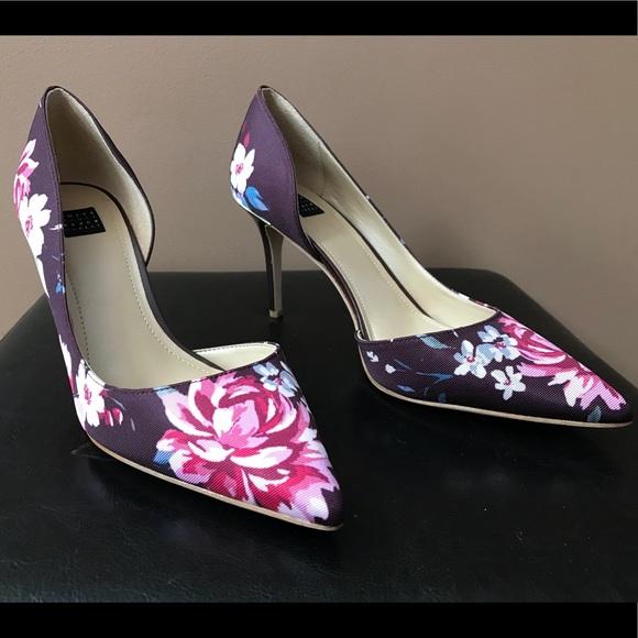 be9715a6951 White House Black Market Floral Print Pumps